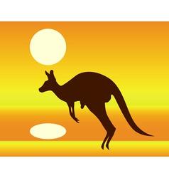 Silhouette of a kangaroo vector