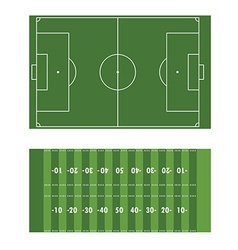 Soccer and american football field vector image