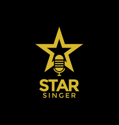 star singer logo design inspiration vector image