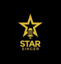 Star singer logo design inspiration vector