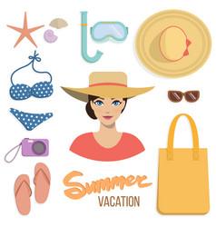 Summer vacation set vector
