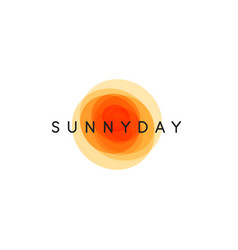 Sunny day abstract sun logo template vector