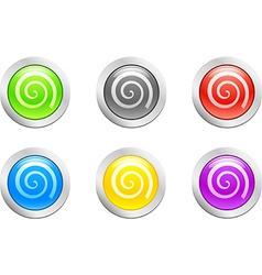 Swirl button vector