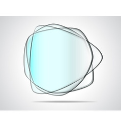 Transparent glass plates vector image