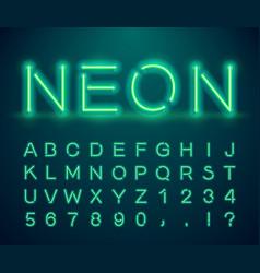 vintage neon font vector image