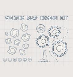 Vintage treasure map generator vector