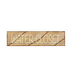 Water closet sign vector