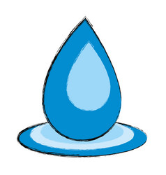 water drop symbol cartoon vector image