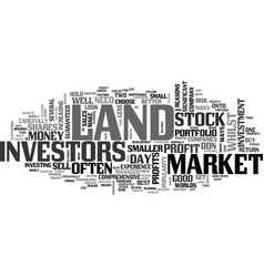 why land beats stocks and shares text word cloud vector image