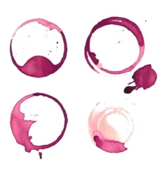 Wine stain cup spots vector