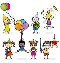 children set party vector image