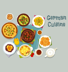 german cuisine meat dishes icon for dinner design vector image