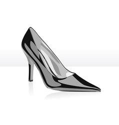 high heel black woman shoe vector image vector image