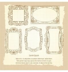 Ornamental frames on vintage background vector image vector image