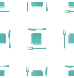 plate fork and knife seamless pattern made vector image
