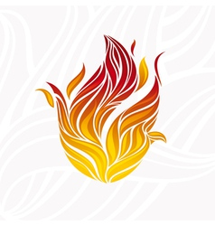 artistic fire vector image vector image