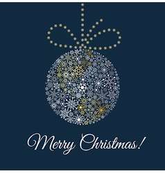 Christmas ball on dark blue background Planet made vector image vector image