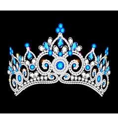crown tiara women vector image vector image