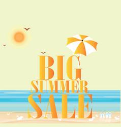 Hot summer sale template banner vector
