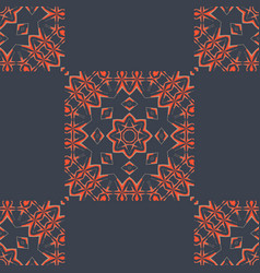 Indian tiles seamless pattern fabric colorful vector