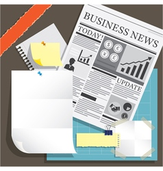 Newspaper and Blank Paper Object Background vector image