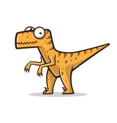 cartoon funny raptor vector image