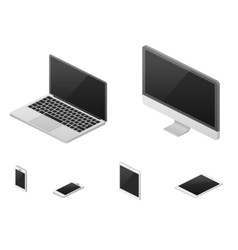 Isometric 3d laptop tablet smartphone computer vector image