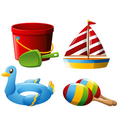 set of different toys vector image