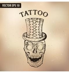 steampunk tattoo skull GLASSES vector image vector image