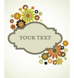 vintage floral sign background vector image vector image