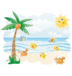 Funny Beach vector image vector image