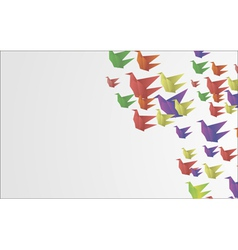origami birds abstract background vector image