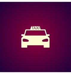 Taxi icon Flat design style vector image