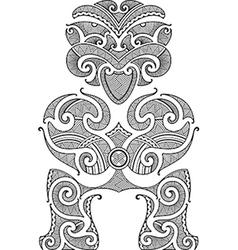 Tiki tattoo design vector image vector image