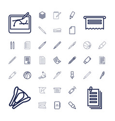 37 pen icons vector image