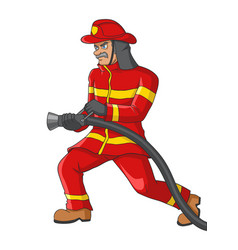 A senior firefighter vector