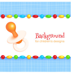 Abstract Childrens Background vector