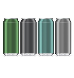 Aluminum beverage drink can isolated mock up vector