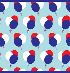 balloons of french flags colors vector image