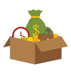Bank and money saving vector