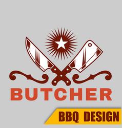 Bbq butcher image vector