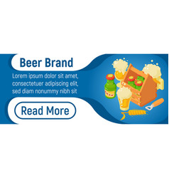 Beer brand concept banner isometric style vector