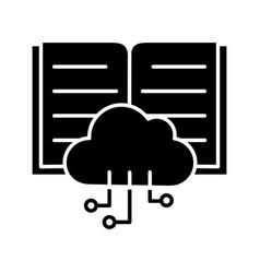 big data glyph icon vector image