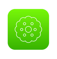 biscuits icon green vector image