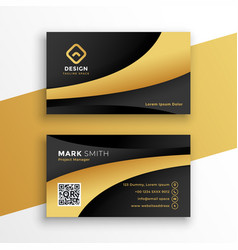 Black and gold modern business card template vector
