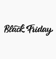 black friday sale hand written lettering vector image