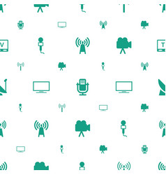 Broadcast icons pattern seamless white background vector