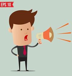 Business man speak on amplifer - - eps10 vector