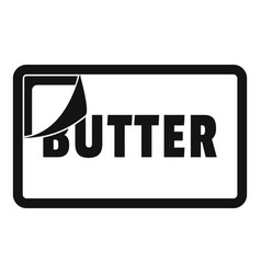 Butter pack icon simple style vector