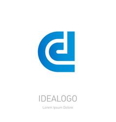 c d initial logo c and d initial monogram vector image